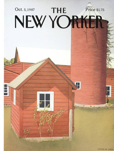 Architecture Painting - New Yorker October 5th, 1987 by Gretchen Dow Simpson
