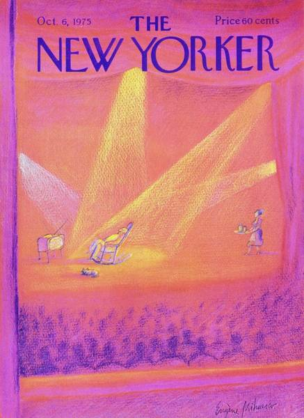 Performer Painting - New Yorker October 6th 1975 by Eugene Mihaesco