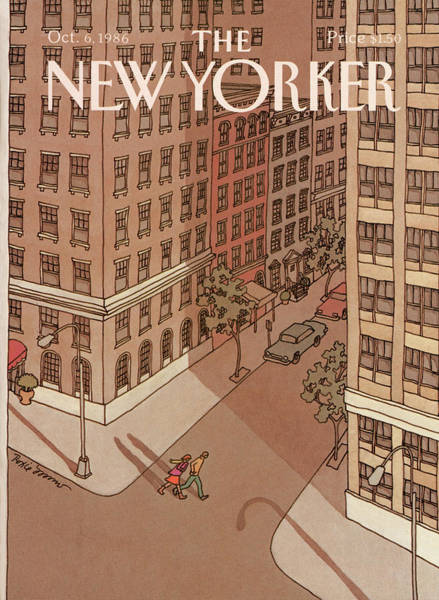 City Painting - New Yorker October 6th, 1986 by Roxie Munro