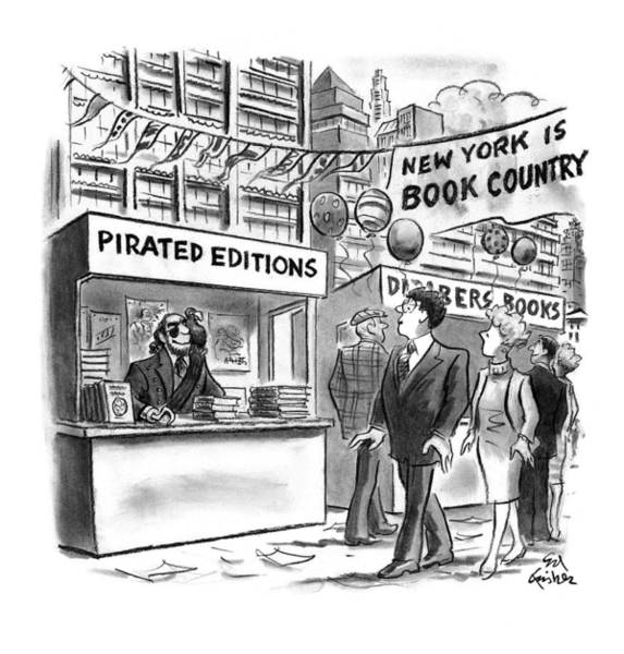 Hook Drawing - New Yorker October 6th, 1997 by Ed Fisher