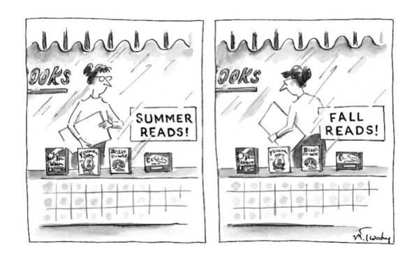 Window Display Drawing - New Yorker October 6th, 1997 by Mike Twohy