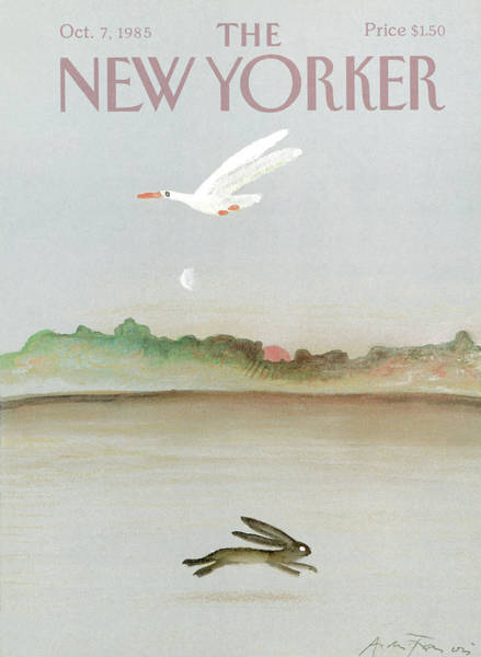 Moon Painting - New Yorker October 7th, 1985 by Andre Francois