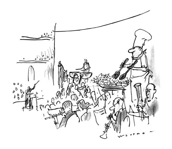 Classical Music Drawing - New Yorker October 7th, 1996 by Bill Woodman