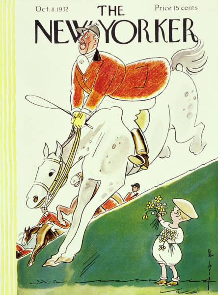 Riding Painting - New Yorker October 8 1932 by Rea Irvin