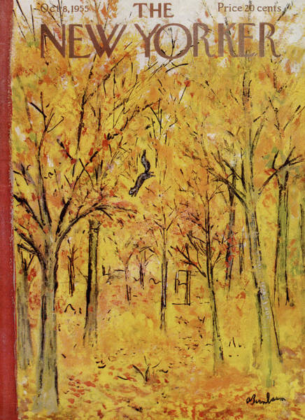 Seasonal Painting - New Yorker October 8th, 1955 by Abe Birnbaum
