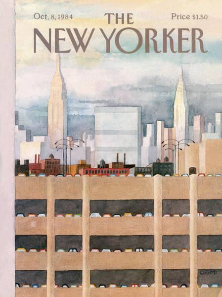 New York City Skyline Painting - New Yorker October 8th, 1984 by Charles E Martin