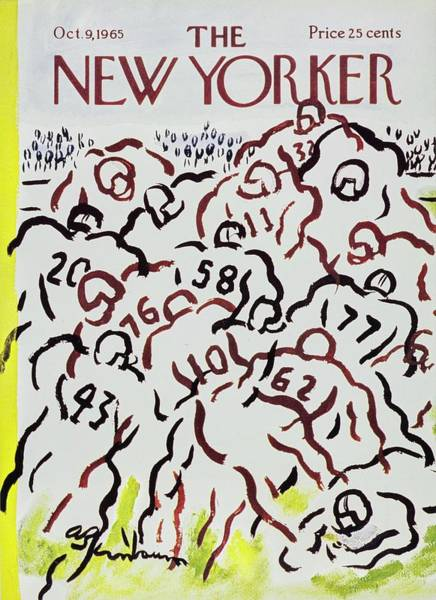 Sports Uniform Painting - New Yorker October 9th 1965 by Aaron Birnbaum