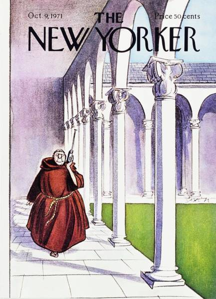 1970s Painting - New Yorker October 9th 1971 by Charles D Saxon
