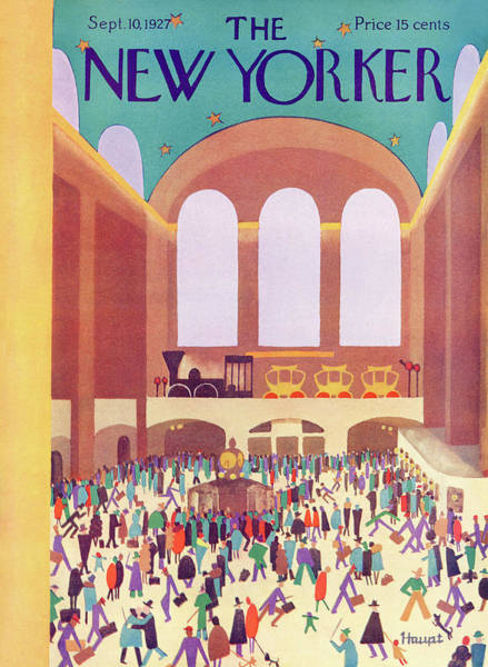 Wall Art - Painting - New Yorker September 10th, 1927 by Theodore G. Haupt