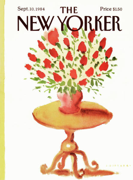 Table Painting - New Yorker September 10th, 1984 by Abel Quezada