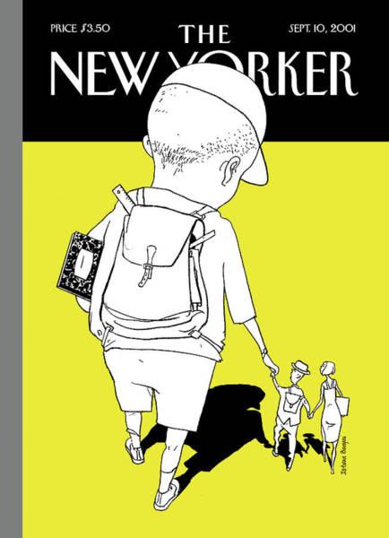 Boy Painting - New Yorker September 10th, 2001 by Istvan Banyai