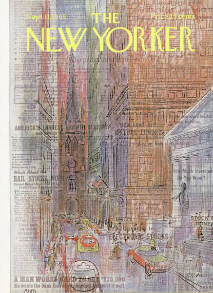 Wall Painting - New Yorker September 11th, 1965 by Charles E Martin