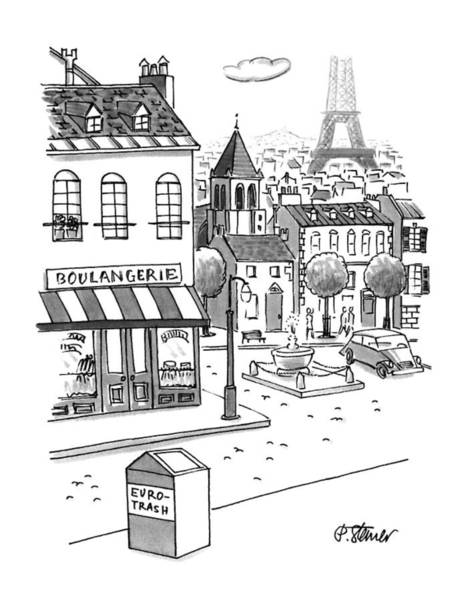 Cliche Drawing - New Yorker September 11th, 1995 by Peter Steiner
