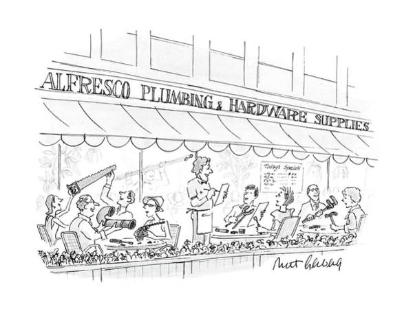 Quaint Drawing - New Yorker September 12th, 1988 by Mort Gerberg
