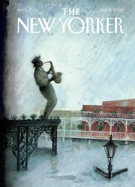 Bourbon Street Wall Art - Painting - New Yorker September 12th, 2005 by Ana Juan