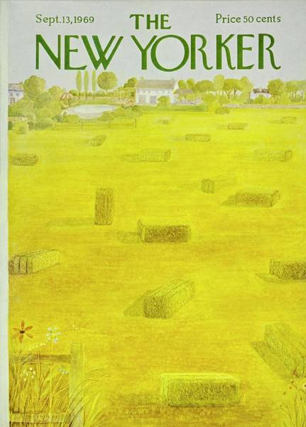 Wall Art - Painting - New Yorker September 13th 1969 by Ilonka Karasz