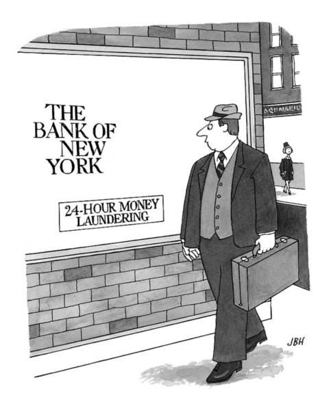 Window Drawing - New Yorker September 13th, 1999 by J.B. Handelsman