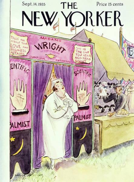 Illustration Painting - New Yorker September 14 1935 by Helene E. Hokinson