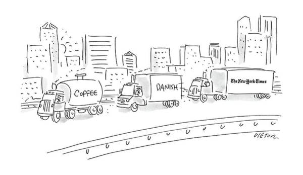 Truck Drawing - New Yorker September 14th, 1987 by Dean Vietor