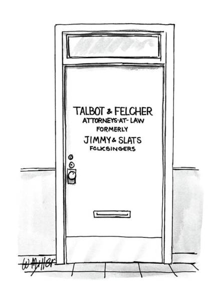 1987 Drawing - New Yorker September 14th, 1987 by Warren Miller