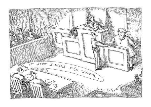 1998 Drawing - New Yorker September 14th, 1998 by John O'Brien