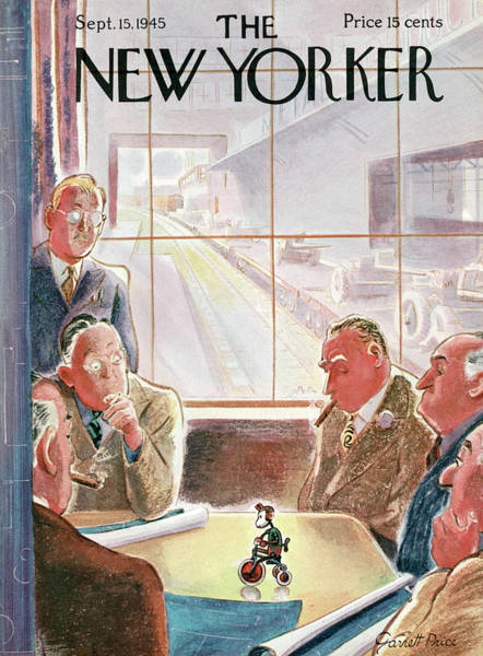 Bicycle Painting - New Yorker September 15, 1945 by Garrett Price