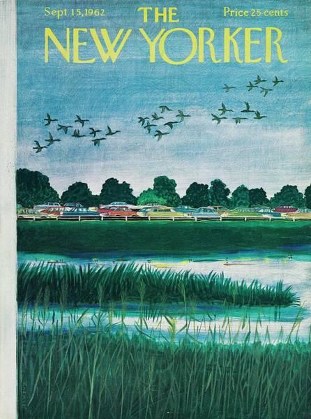 Cloud Painting - New Yorker September 15th 1962 by Ilonka Karasz