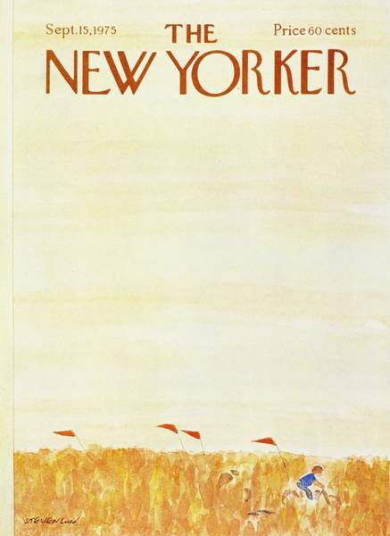 Bicycle Painting - New Yorker September 15th 1975 by James Stevenson