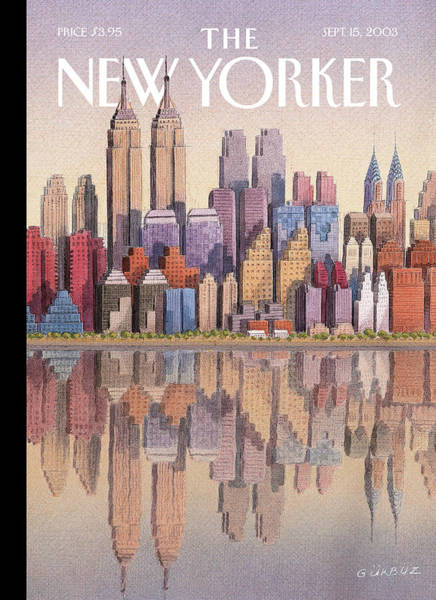 News Painting - New Yorker September 15th, 2003 by Gurbuz Dogan Eksioglu