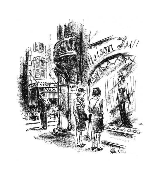 Window Display Drawing - New Yorker September 16th, 1944 by Alan Dunn