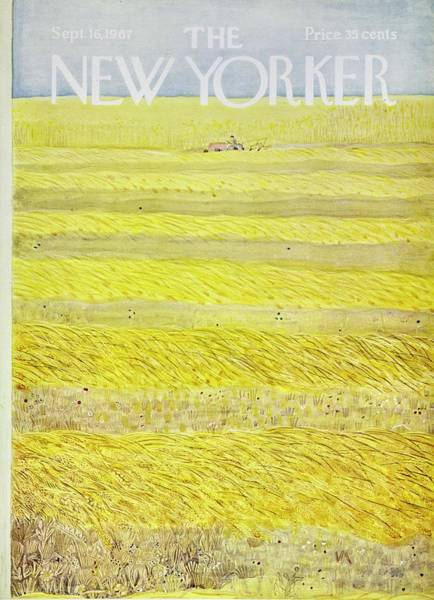 Farmer Painting - New Yorker September 16th 1967 by Ilonka Karasz