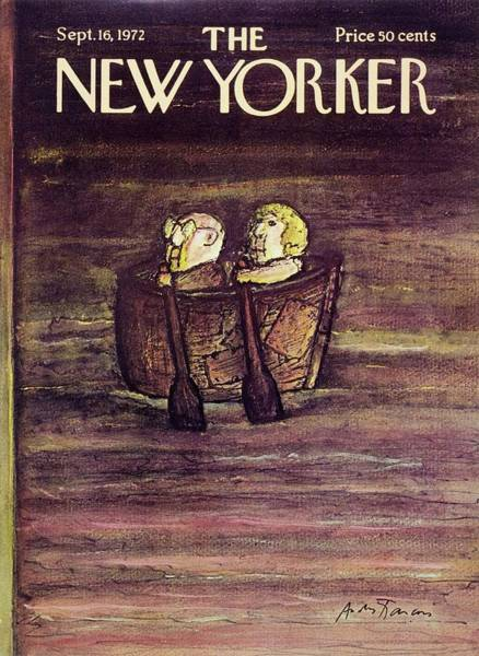 Rowing Painting - New Yorker September 16th 1972 by Andre Francois