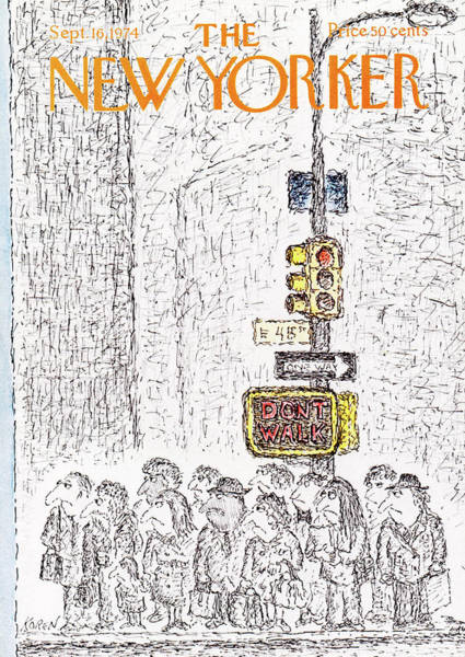 City Lights Painting - New Yorker September 16th, 1974 by Edward Koren