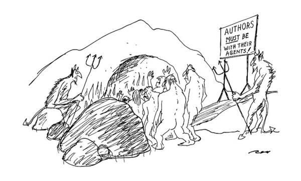 Devil Drawing - New Yorker September 16th, 1991 by Al Ross