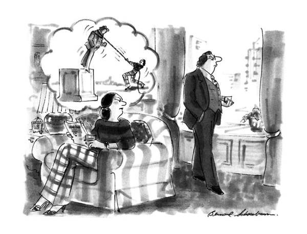 Obstacle Drawing - New Yorker September 16th, 1991 by Bernard Schoenbaum