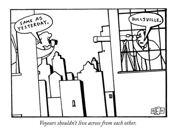 September 16th Drawing - New Yorker September 16th, 1991 by Bruce Eric Kaplan