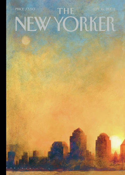 Twin Towers Painting - New Yorker September 16th, 2002 by Ana Juan