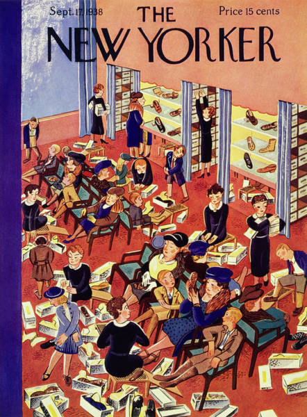 Shoe Painting - New Yorker September 17 1938 by Ilonka Karasz