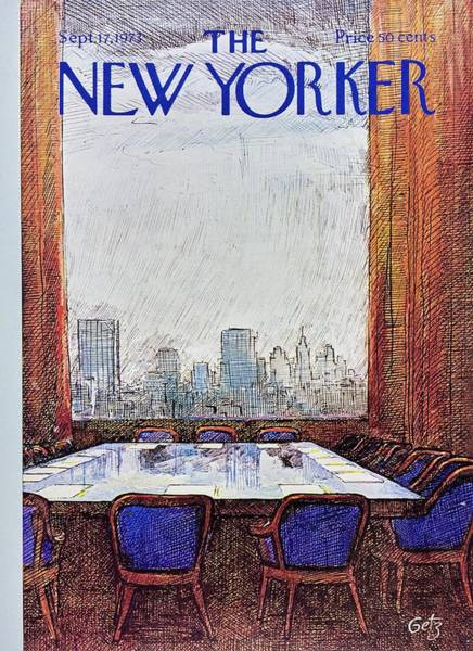 Office Furniture Painting - New Yorker September 17th 1973 by Arthur Getz
