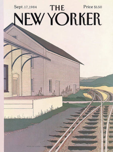 Suburban Painting - New Yorker September 17th, 1984 by Gretchen Dow Simpson