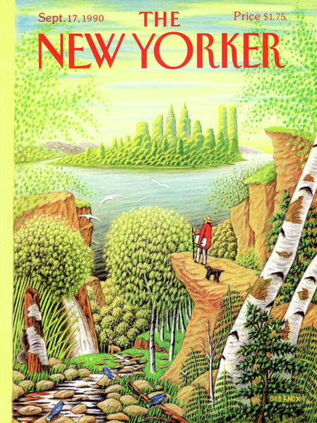 New York City Painting - Green New York by Bob Knox