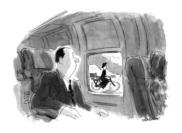 Transport Drawing - New Yorker September 17th, 1990 by James Stevenson