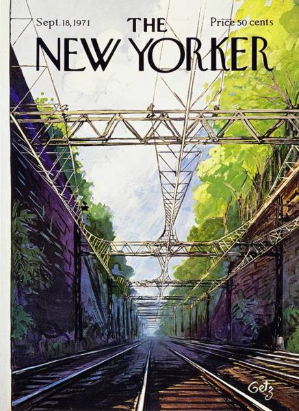 Magazine Cover Painting - New Yorker September 18th 1971 by Arthur Getz