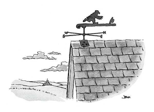 Weathervane Drawing - New Yorker September 18th, 1978 by John Jonik