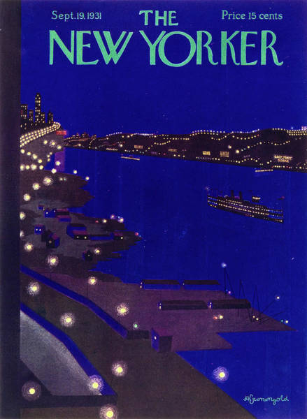 Night Painting - New Yorker September 19 1934 by Arthur K. Kronengold