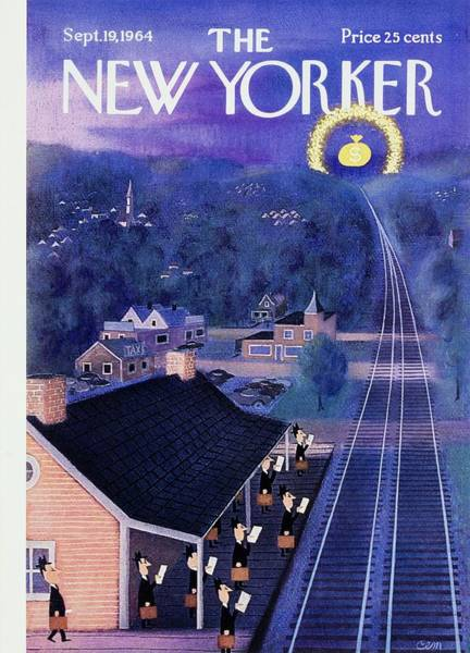 Magazine Cover Painting - New Yorker September 19th 1964 by Charles Martin