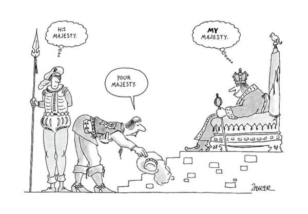 Courtiers Drawing - New Yorker September 19th, 1988 by Jack Ziegler