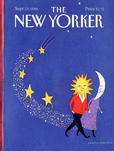 Night Painting - New Yorker September 19th, 1988 by Pamela Paparone