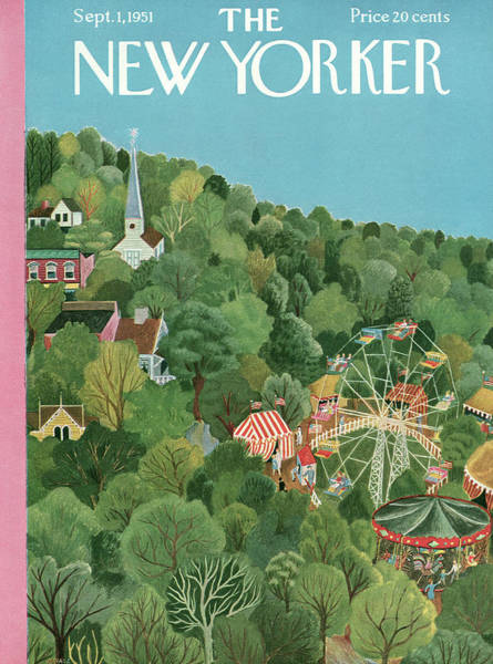Suburban Painting - New Yorker September 1st, 1951 by Ilonka Karasz