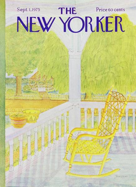 Rocking Chairs Painting - New Yorker September 1st 1975 by Jenni Oliver